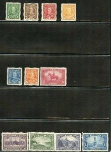 CANADA 1935 GEO V PICTORIAL SCOTT#217/227  MINT NEVER HINGED--SCOTT VALUE $183.