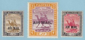 SUDAN C1 - C3 AIRMAILS  MINT HINGED OG * NO FAULTS EXTRA FINE! - Y300