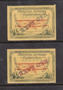 Canada #CL30c Footnote XF Mint Inverted Overprint Duo In Red & Green
