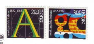 Norway Sc812-3 1982 Graphical Union stamps mint NH
