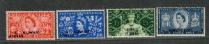 Kuwait Sc#124-5, 127-8 M/NH/VF, Partial Set, Cv. $27.60