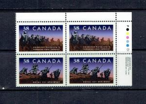 CANADA 1989 CANADIAN INFANTRY REGIMENTS - SCARCE URPB - SCOTT 1250ii - MNH