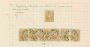 COLOMBIA 1917 STAMPS STUDY ON 1 PAGE MOUNTED MINT & USED  REF 5322