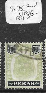 MALAYA  PERAK   (PP1105B) 50C TIGER SG 75 FISCAL USED  VFU