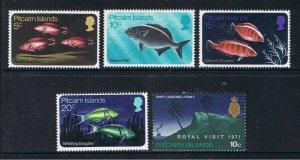 PITCAIRN ISLANDS 1970 - 71 FISH & ROYAL VISIT