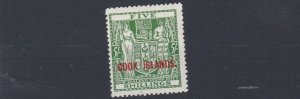 COOK ISLANDS  1943   S G 132    5/-    GREEN   MH
