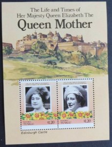 1985 Tuvalu - Nanumea 61-62/B1 85th anniversary of Queen Elizabeth II