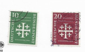 Germany #744-745 Used CAT VALUE $9.00