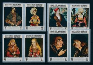 [95536] Aden Qu'aiti State Hadhramaut 1967 Painting Cranach Imperf 4 Sheets MNH