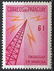 Paraguay; 1961: Sc. # 579: **/MNH Single Stamp