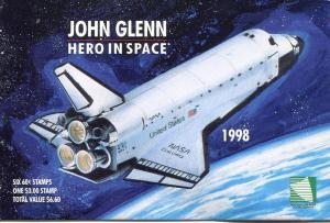 MARSHALL ISLANDS 1998 JOHN GLENN SPACE SET -  COMPLETE BOOKLET - $13.50 VALUE!