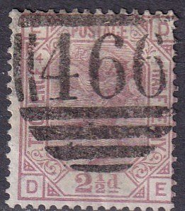 Great Britain #67 Plate 4 F-VF Used CV $60.00 (Z4416)
