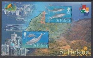 St Helena 761 Dolphins Souvenir Sheet MNH VF