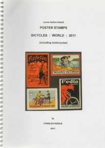 (I.B-CK) Cinderella Catalogue : Poster Stamps : World Bicycles (2011)