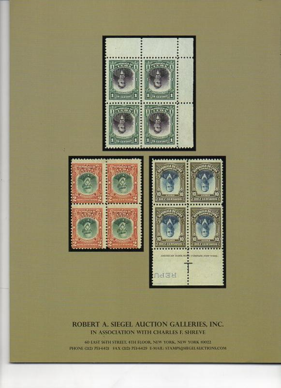 Siegel Auction Sale on Classic Cuba