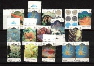 CAYMAN ISLANDS - Marine Life Set - 1986 SG 635-646