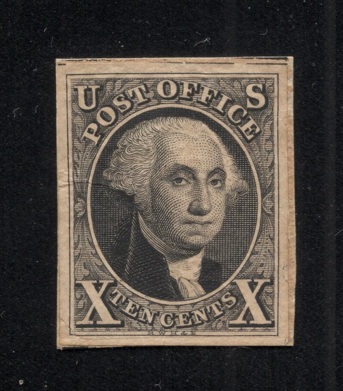 US #2P1 or #2P3 Black - Original Die Proof - Cut Down(Normal)