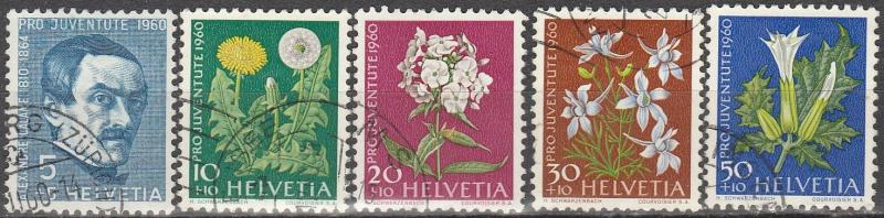 Switzerland #B298-302  F-VF Used  CV $7.75 (D1837)