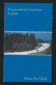 Finland 1999 Finland's Roads booklet Sc# 1107a NH