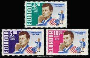 Ecuador Scott C429-C431 Mint never hinged.