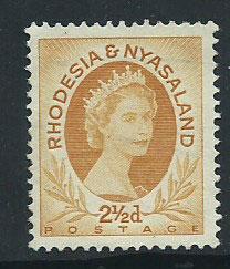 Rhodesia & Nyasaland SG 3a  mint no gum