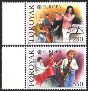 Faroe Islands. 1985. 116-17. Musicians, europe-sept. MNH.