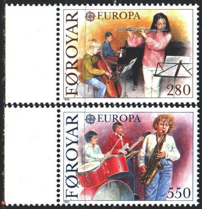 Faroe Islands. 1985. 116-17. Musicians, europe-sept. MNH.
