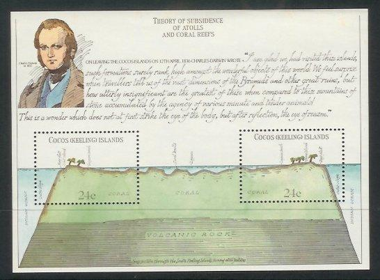 Cocos Is - 1981 150th Anniv of Charles Darwin's Voyage (m/s) (MNH)