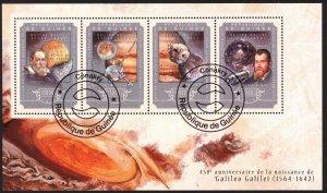 Guinea 2014 Space Astronomy G. Galilei Sheet Used / CTO