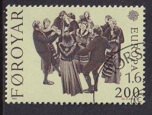 Faroe Islands  #64  used  1981  Europa   200o