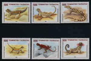 Tajikistan 69-75 MNH Lizards