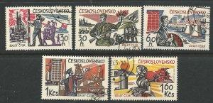 Czechoslovakia  Scott 1307-1311  Complete