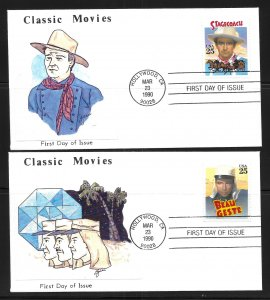USA 2445-8 Classic Films First Day Cover FDC (z10)