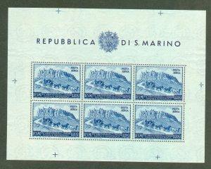BD: XL item San Marino C65a sheet of 6 mint CV $40
