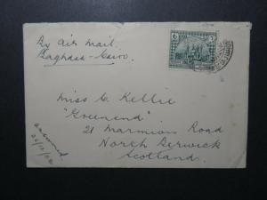 Iraq 1927 Imperial Airmail Cover to Scotland  - Z12488