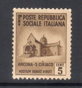 ITALY ITALIAN SOCIALIST REPUBLIC 22 MNH VF