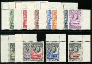 Bechuanaland 1955 QEII set complete superb MNH. SG 143-153. Sc 154-165.
