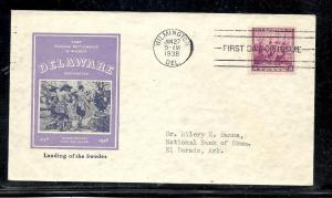 US #836-47 Swedes & Finns Ioor cachet addressed
