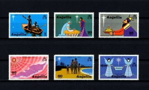 ANGUILLA - 1974 - CHRISTMAS - NATIVITY  - ANGELS - KINGS + MINT - SET OF 6!