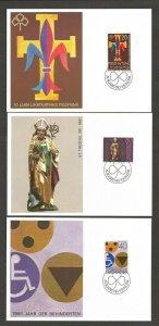 1981 Liechtenstein Boy & Girl Guides 50 Jahr maximum card FDC set