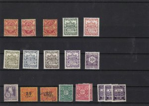 indo china and reunion mounted mint postage due stamps ref 10987