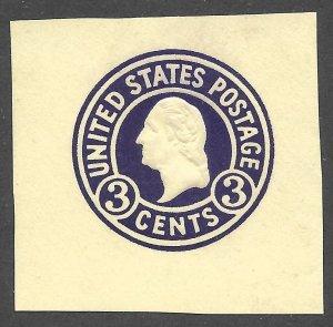 Doyle's_Stamps: Mint 1917 Scott #U438* Cut Square