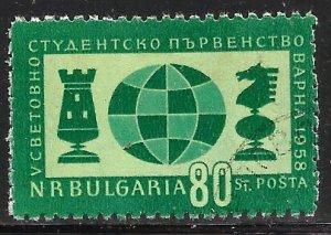 Bulgaria 1958 Scott# 1015 Used CTO (Perfs short)