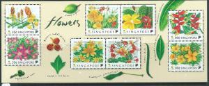 SINGAPORE SGMS957 1998 FLOWERS   MNH