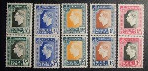 South Africa Scott #74-78 mnh