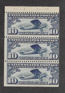 C10a Unused Booklet Pane, scv: $70, Free Insured Shipping