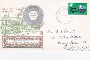 Australia 1967 150th Anniversary of Banking in Australia FDC Brisabane CDS VGC