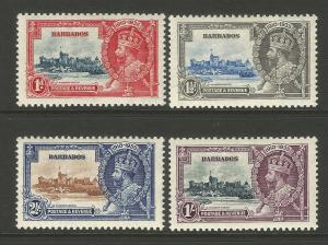 Barbados 1935 KGV Silver Jubilee Set Of Stamps Mint Never Hinged MNH