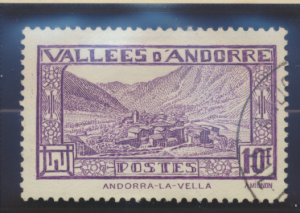 Andorra (French Administration) Stamp Scott #62, Used - Free U.S. Shipping, F...
