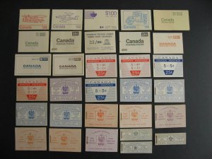 Canada 31 different (Ut varieties) 70s and back complete booklets check them out